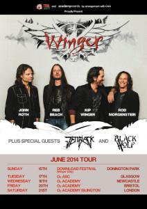 Winger UK tour